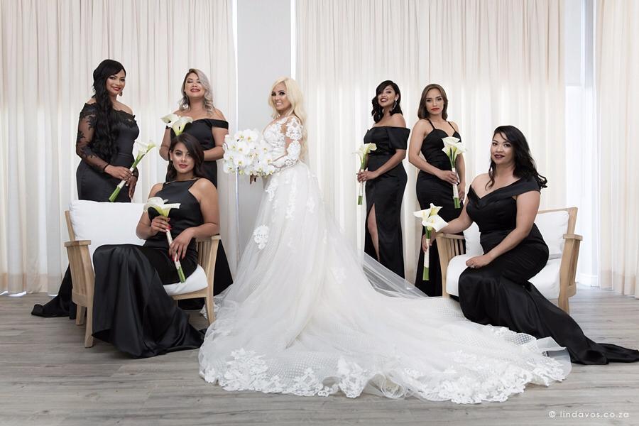 Xeniah and her beautiful bridesmaids